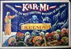 Kar-Mi (1916) Indian Newspaper Magic Poster