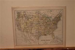 873 Map of the US