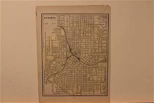 1889 Map of Atlanta