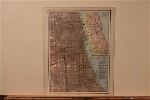 1889 Map of Chicago