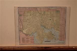 1889 Map of Baltimore
