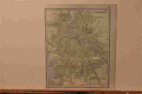 1885 Map of Minneapolis