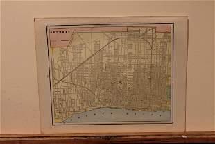 1890 Map of Detroit