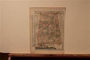 1889 Map of Alabama