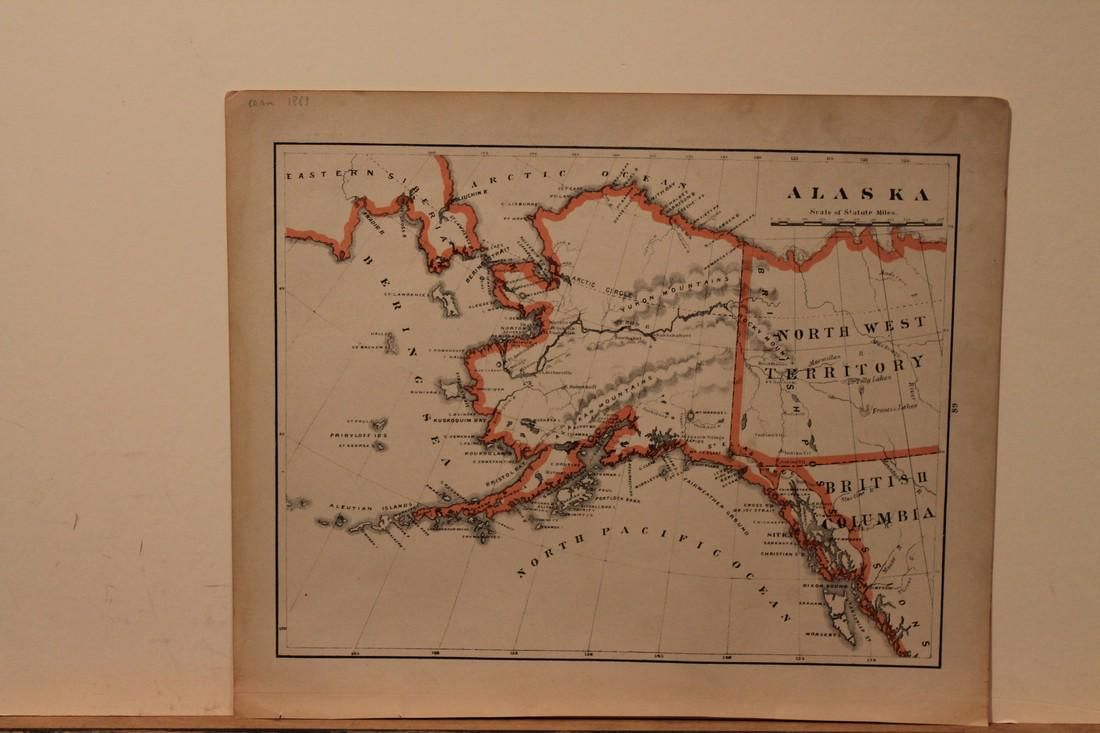 1883 Map of Alaska