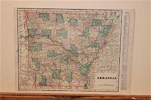 1887 Map of Arkansas