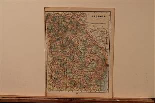 1893 Map of Georgia