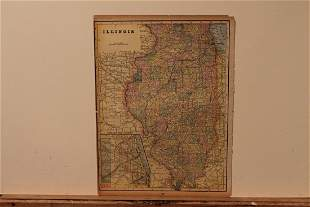 1895 Map of Illinois
