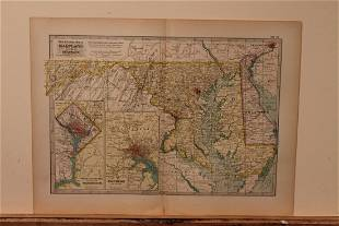 1897 Map of Maryland and Delaware