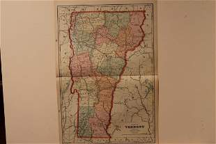 1892 Map of Vermont