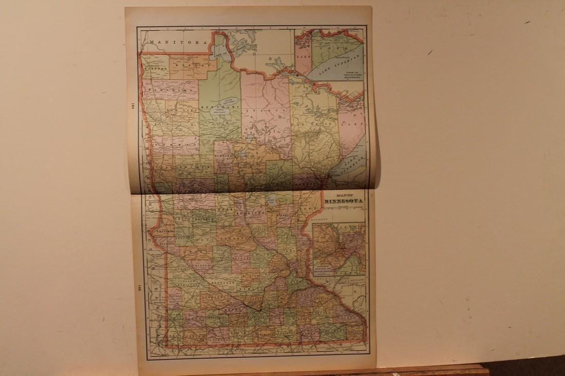 1892 Map of Minnesota