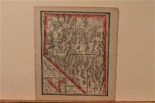 1884 Map of Nevada