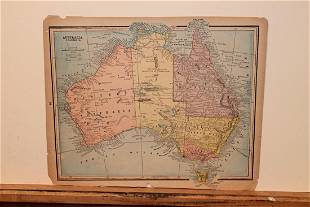 1884 Map of Australia