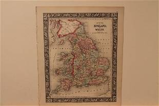 1860 Map of England and Wales