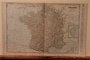 1892 Map of France