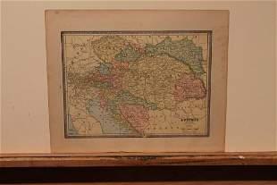 1885 Map of Austria