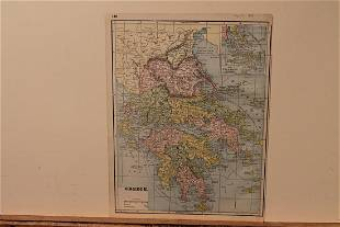1891 Map of Greece