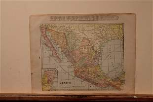 1891 Map of Mexico