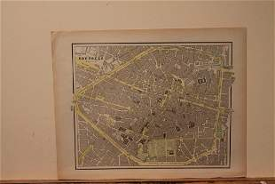 1892 Map of Brussels