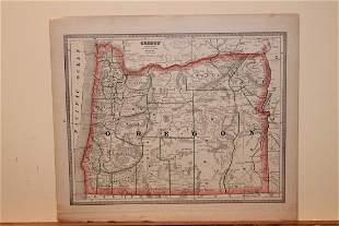 1884 Map of Oregon