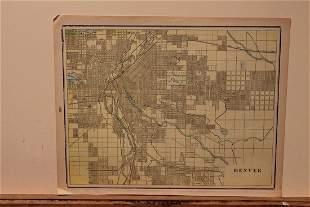 1899 Map of Denver