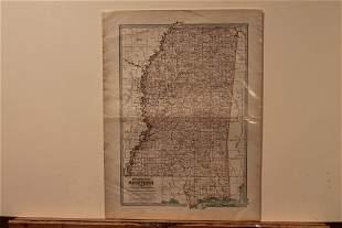 1897 Map of Mississippi