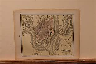 1901 Map of Jerusalem