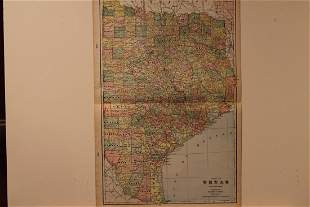 1892 Map of East Texas