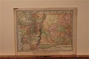 1899 Map of Washington