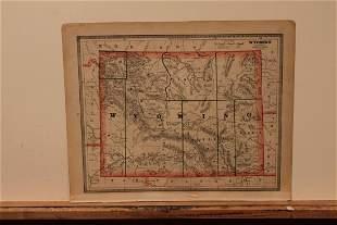 1883 Map of Wyoming