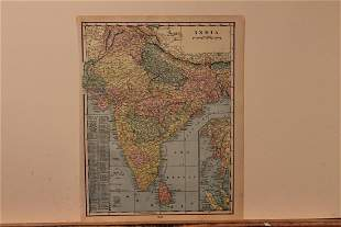 1890 Map of India