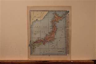 1890 Map of Japan
