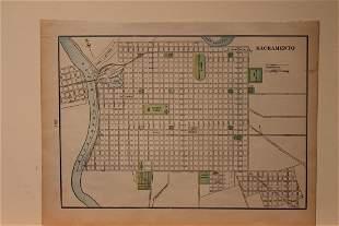 1886 Map of Sacramento