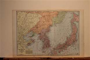 1904 Map of the Japan-Russian War