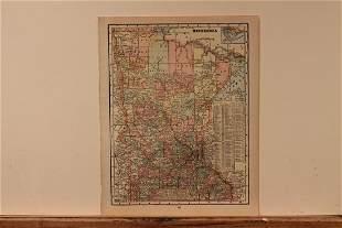 1899 Map of Minnesota