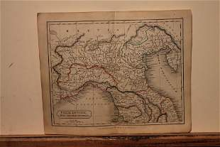 1828 Map of Ancient Lombardy