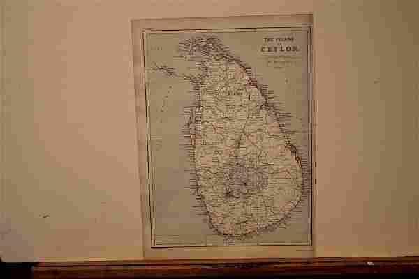 1882 Map of Ceylon