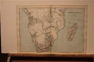 1882 Map of South Africa