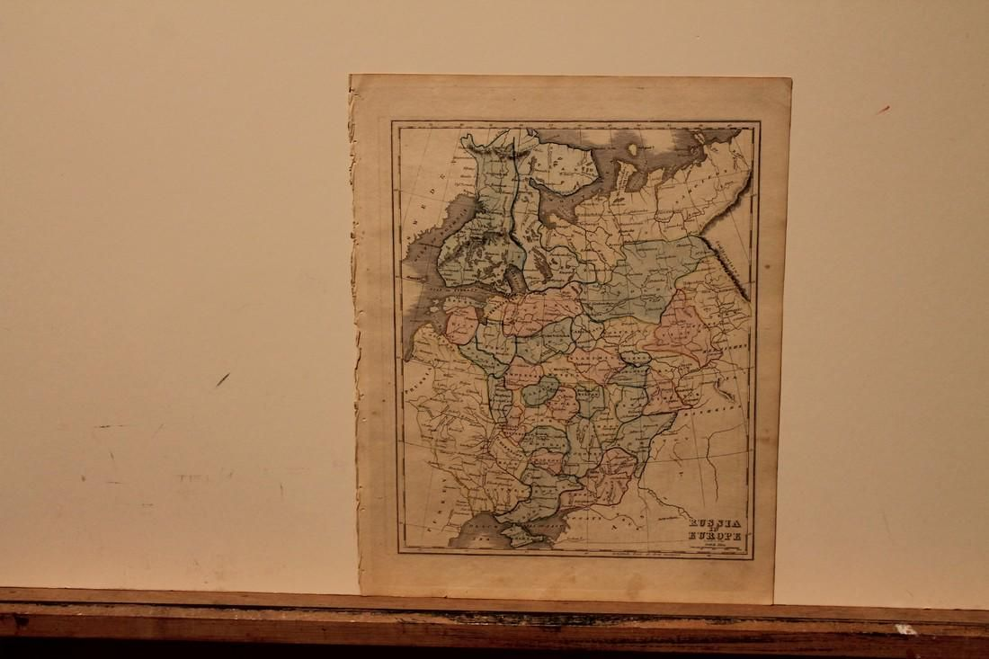 1842 Map of Russia