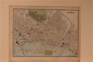 1885 Map of Montreal