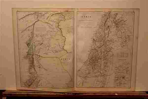 1882 Map of Syria and Palestine