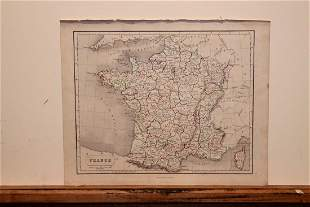1859 Map of France