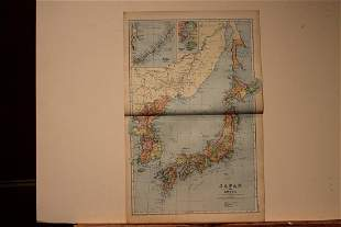 1892 Map of Japan and Korea