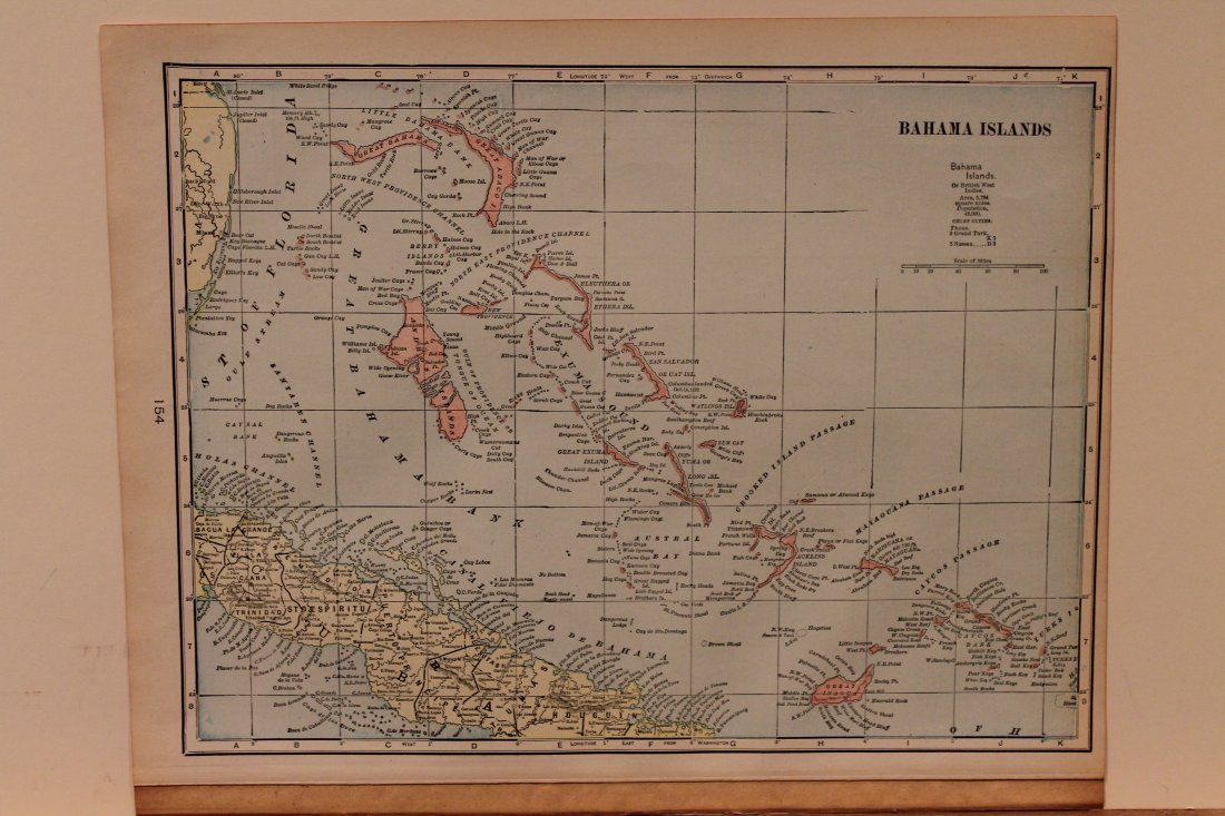1898 Map of the Bahamas