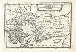 1747 Map of Ancient Greece and Asia Minor