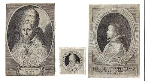 17th C Engravings Pope Urbanus VIII Julius II