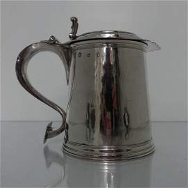 Large Antique 17th Century Silver Tankard London 1691