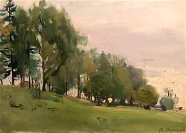 Oil painting Forest landscape Zaretskyi Viktor