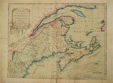 1786 Jefferys Map of Canadian Maritime Provences and US