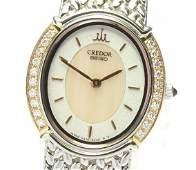 Seiko -CREDOR - 18K Gold -Diamond - Quartz - Women